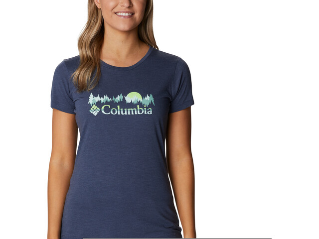 Columbia Daisy Days SS Graphic Tee Women, nocturnal heather